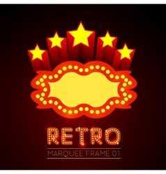 Blank movie theater or casino marquee vector