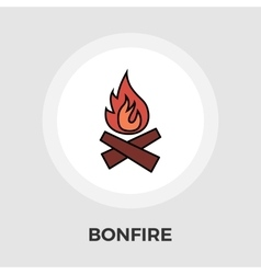 Bonfire Flat Icon vector image
