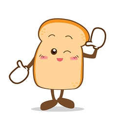 Bread 07 isolated happy smile slice of bread vector