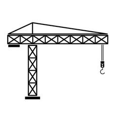 Building crane the black color icon vector