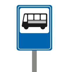 Bus stop signal isolated icon vector