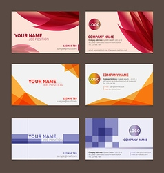 Business Name card set 1 vector image