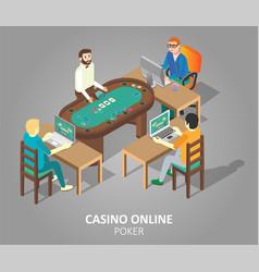 casino online poker isometric vector image
