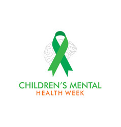 children mental health week vector image
