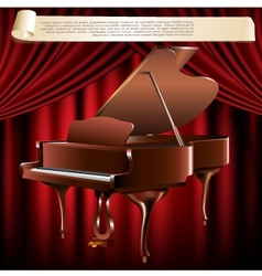 Classical grand piano vector