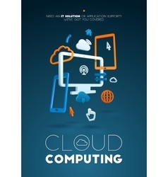 Cloud Computing abstract composition poster vector