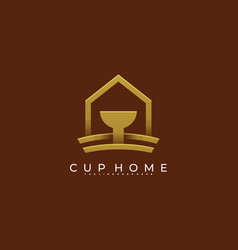 cup home icon template vector image
