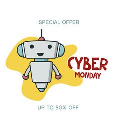 Cyber monday sale promo banner vector