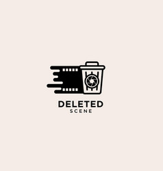 Deleted scene trash logo recycle bin icon graphic vector