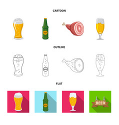 design pub and bar sign collection of vector image