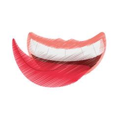 Drawing april fools mouth tongue vector