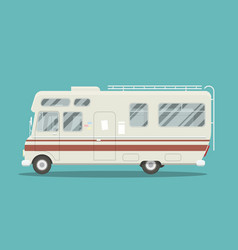 Flat mobile home vector