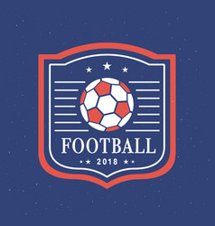Football 2018 logo template set vector