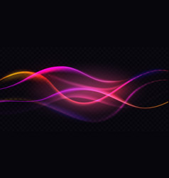 gradient violet neon color wave abstract light vector image