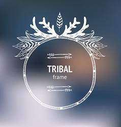 hand drawn tribal frame vector image