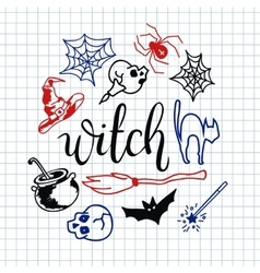 Happy halloween icons set vector image