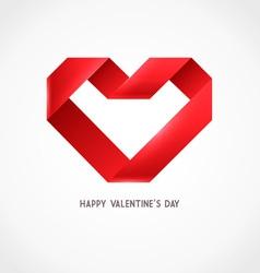 Heart Ribbon Origami Logo vector
