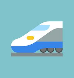 High speed bullet train vector