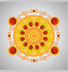 Hindu flower decoration with traditional design vector