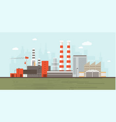 industrial park or zone with factory buildings vector image