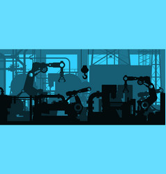 industrial plant shop interior factory production vector image