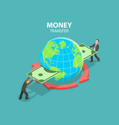 international money transfer isometric flat vector image