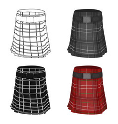 Kilt icon in cartoon style isolated on white vector