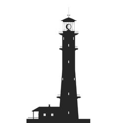 Lighthouse Silhouette of large lighthouse isolated vector
