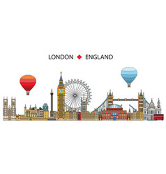 london colorful line art 6 vector image