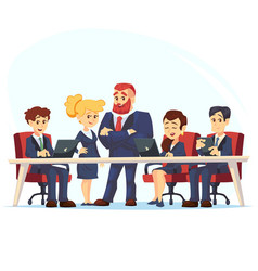 meeting business people teamwork discussion of vector image