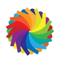 Multicolored abstract circle icon cartoon style vector image
