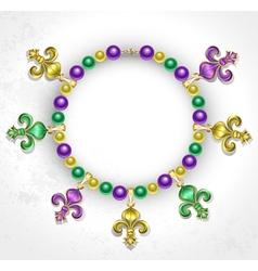 Necklace with Fleur De Lis vector
