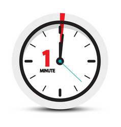 One minute clock icon vector