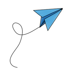 Paper plane school creativity idea icon vector