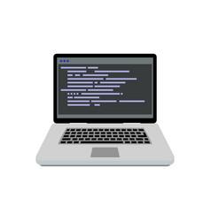 programming writing code vector image