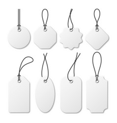 realistic white price tags collection special vector image