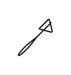 Reflex hammer icon black on white background vector