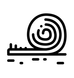 Rolled artificial turf icon outline vector