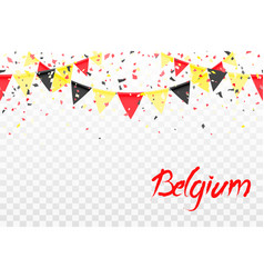 seamless pattern belgium flags confetti vector image
