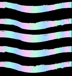 seamless striped holographic pattern seamless vector image