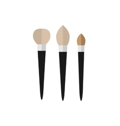 Set makeup brush flat icon vector