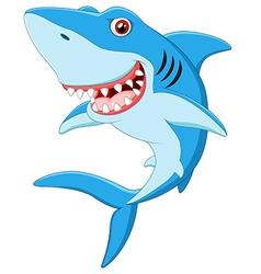 Smiling shark cartoon vector