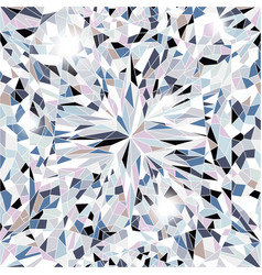 Sparkling water clear diamond top view vector