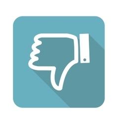 Square dislike icon vector