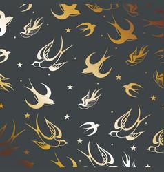 swallow bird silhouette vector image