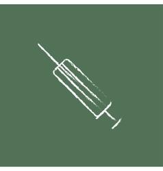 Syringe icon drawn in chalk vector image
