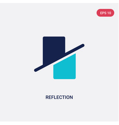 Two color reflection icon from geometry concept vector