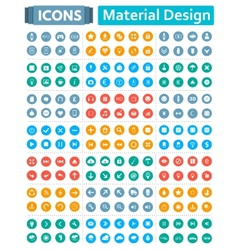universal set icons in style material design vector image