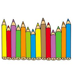 Various colors pencils vector
