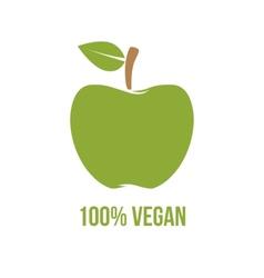 Vegetarian symbol vector image